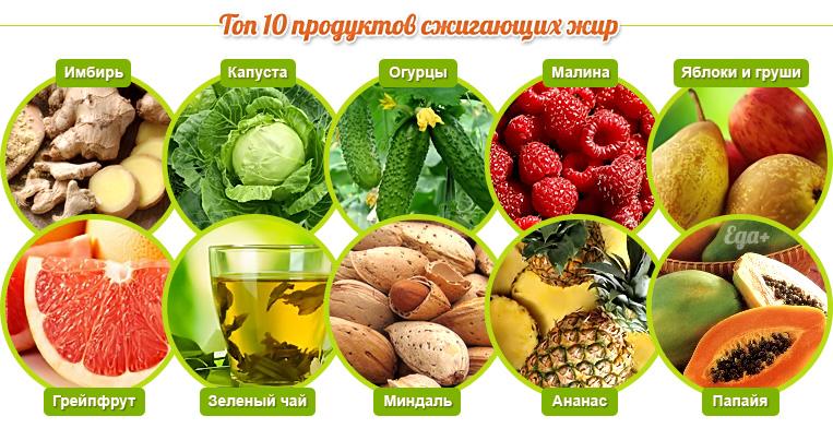 продукты сжигающие жир в животе